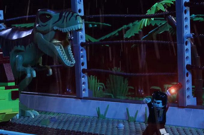100 bin dolar harcayarak LEGO'larla Jurassic Park'ı yeniden yarattılar