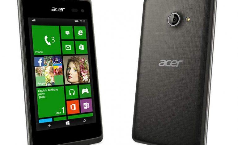 Acer'dan Wp 8.1'li giriş seviyesi telefon; Acer Liquid M220