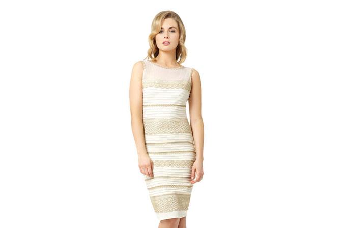 İnterneti birbirine katan kıyafetin artık altın beyaz renkli modeli satışta