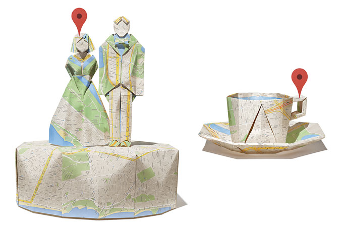 Google Maps ile origami