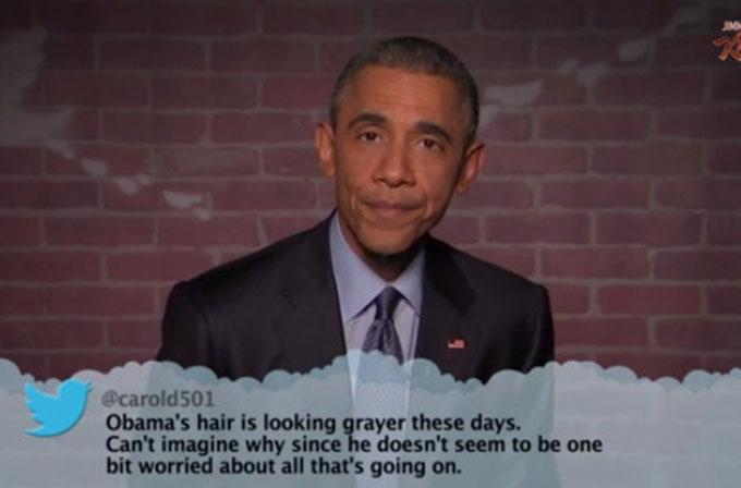 """""""Mean Tweets""""in konuğu bu sefer Barack Obama oldu"""