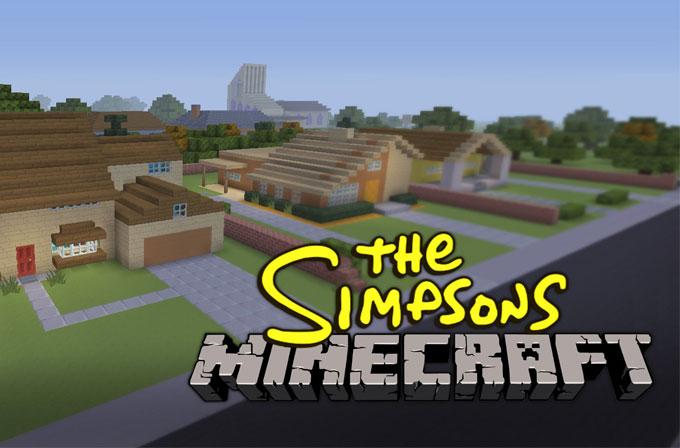 The Simpsons'ın giriş bölümünü Minecraft'ta yeniden çektiler