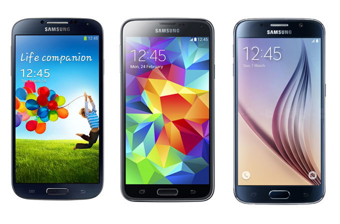 Samsung Galaxy S4, S5 ve S6 karşılaştırması