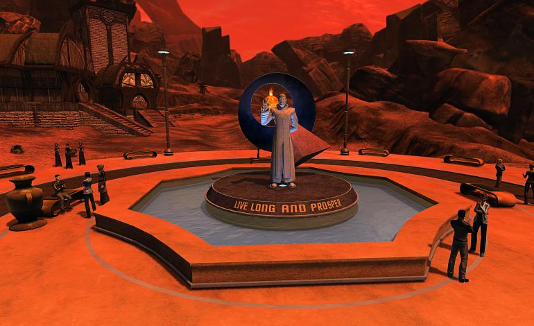 Mr. Spock'ın Star Trek Online'da heykeli dikildi