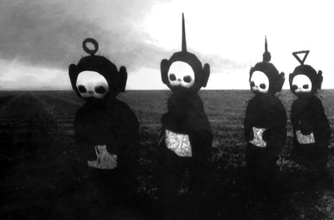 Teletabiler siyah beyaz olsaymış, bir korku filmdinden farksız olacakmış