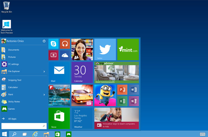 Windows 10 PC'de ve akıllı telefonlarında daha az yer kaplayacak