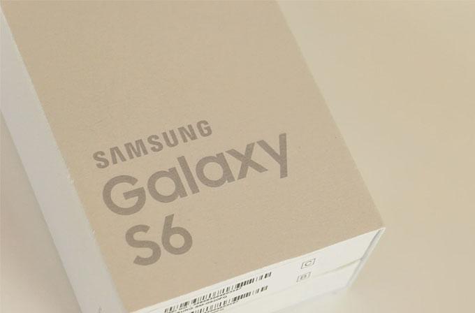 Samsung Galaxy S6 kutu açılışı