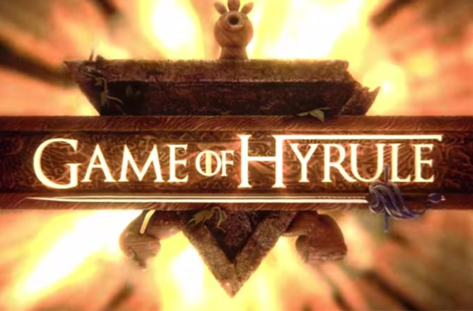 Zelda'nın oyunu Game of Thrones jeneriği ile birlikte (Video)