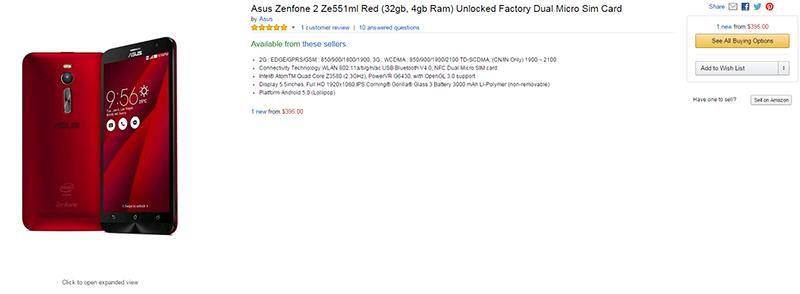 ZenFone 2 Ze551ml