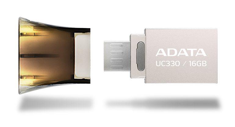 Roket başlıklı, çift girişli USB bellek
