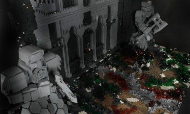 55,000 LEGO parçası ile Erebor dağını yaptı