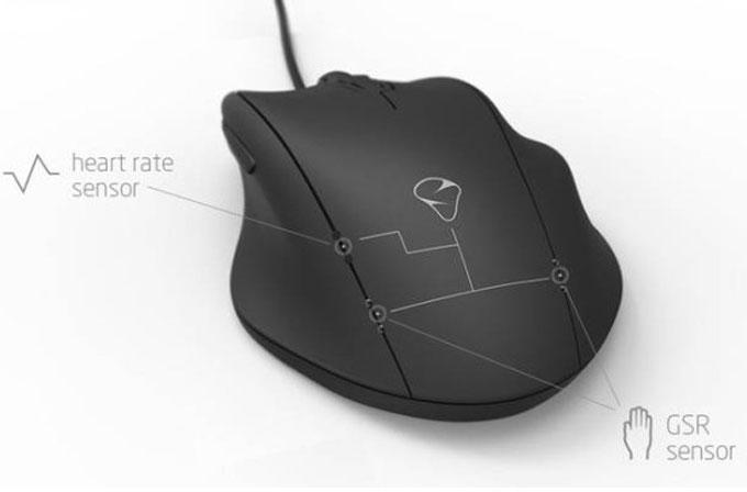 Stres seviyenizi ve kalp atışınızı ölçen oyuncu faresi