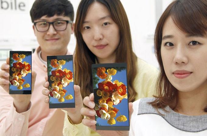 LG, 5.5 inç boyutlu QHD ekranını tanıttı
