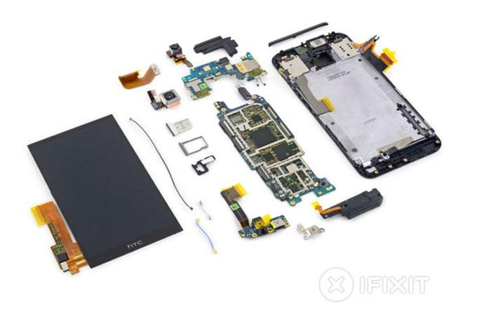 iFixit, HTC One M9'u parçalarına ayırdı