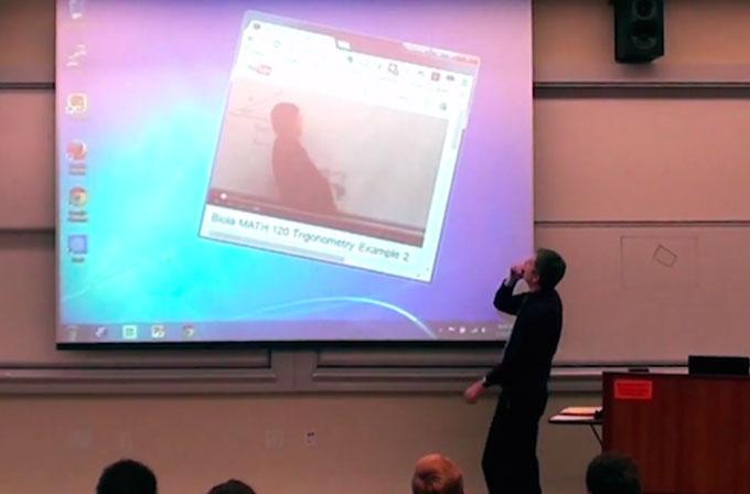 Matematik profesöründen öğrencilerine muhteşem şaka