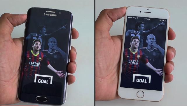 Galaxy S6 Edge ile iPhone 6 hız testi