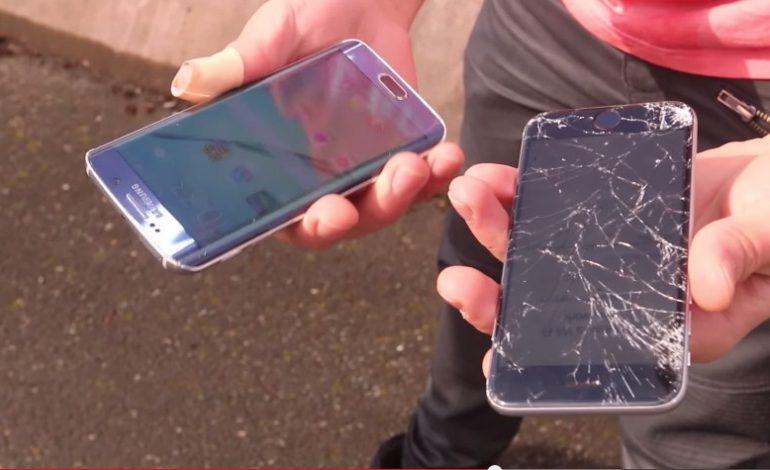 Galaxy S6 Edge ve iPhone 6 düşürme testinde