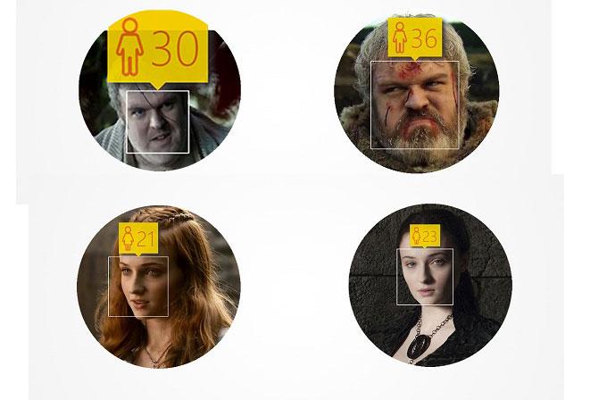 Microsoft'un yaş tahmin etme aracıyla Game of Thrones karakterleri