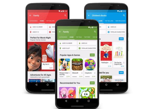 "Google Play Store artık daha ""aile dostu"""