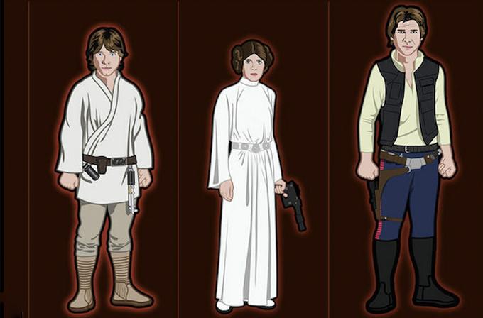 Star Wars kahramanlarının kıyafet gelişimi infografiğe döküldü