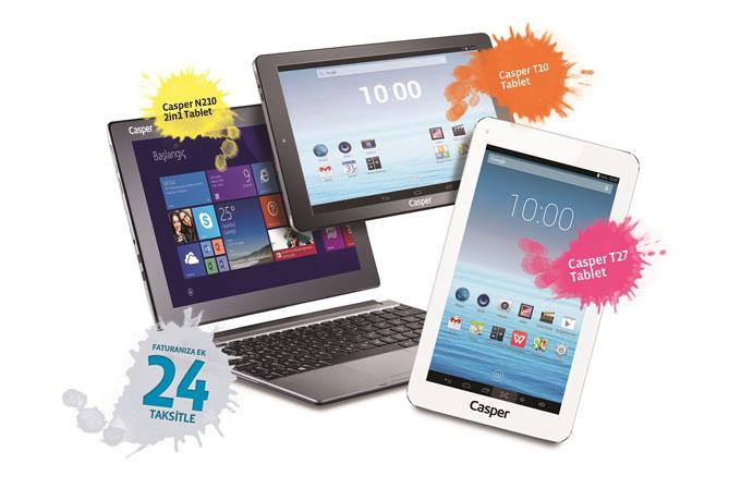 Türk Telekom'dan iş yerlerine ayda 9,90 TL'den başlayan fiyatlarla Casper Tablet