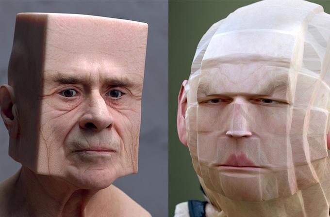 Galeri: 3D yazılımla insanları şekilden şekile soktu