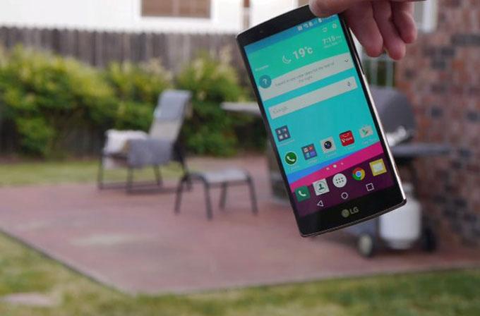 LG G4'ün ilk düşürme testi [VİDEO]