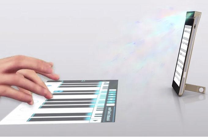 Lenovo'nun projeksiyonlu telefonu masanızı dokunmatik yüzeye çeviriyor