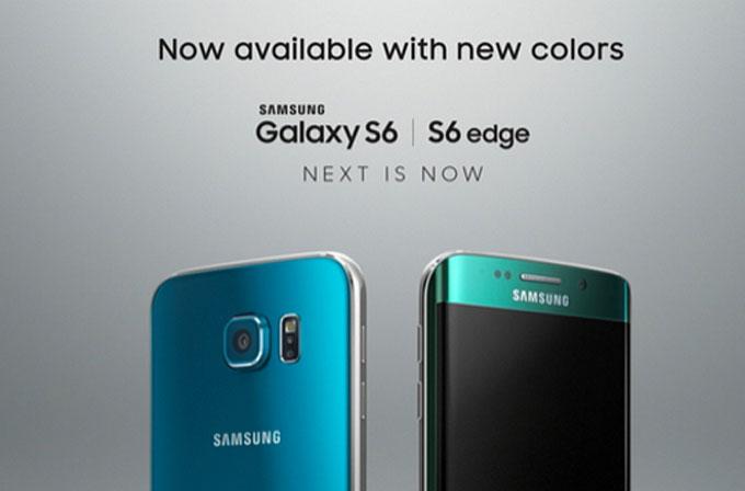 Galaxy S6'nın zümrüt yeşili ve mavi renk seçenekleri satışa çıkıyor