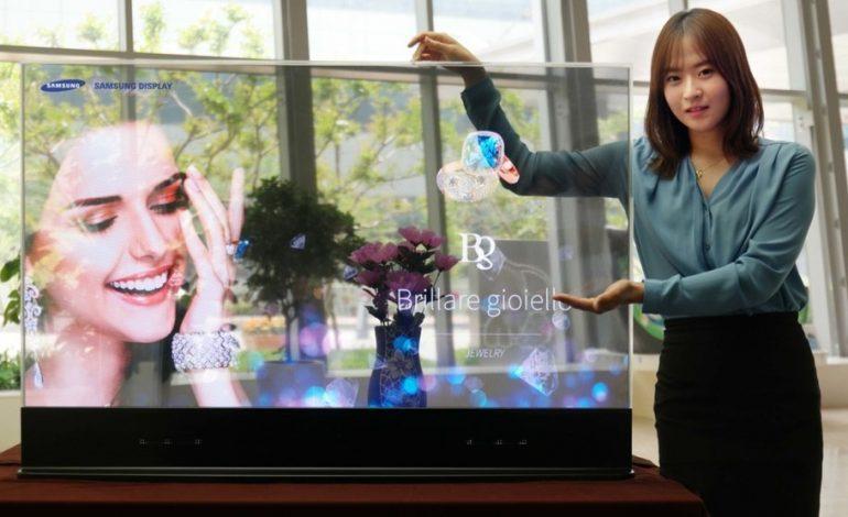 Samsung transparan OLED ekranını tanıttı