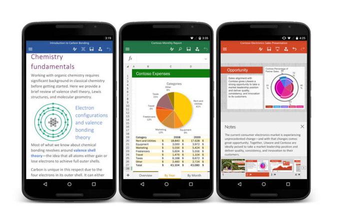 Android'e tam teşeküllü Office uygulamaları geldi