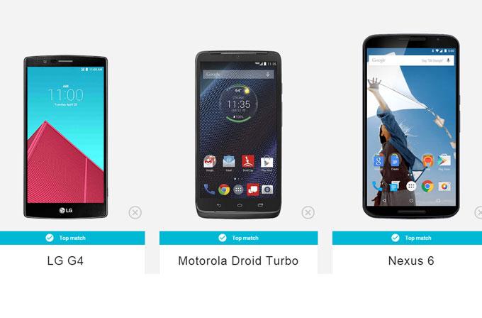 Google'dan size akıllı telefon öneren internet sitesi