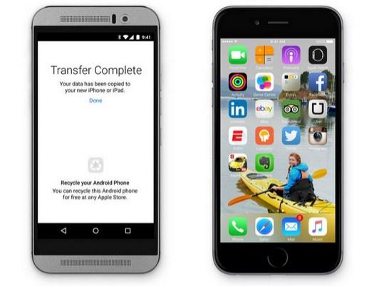 Apple'dan iOS'a geçmek isteyenler için Android uygulaması