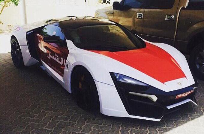 Abu Dabi polisine 3.5 milyon dolarlık araç: Lykan Hypersport
