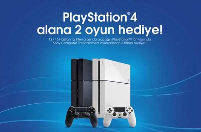 PlayStation 4 alana 2 tane oyun hediye!