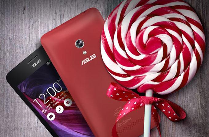 ASUS Zenfone 5'e Lollipop geldi!
