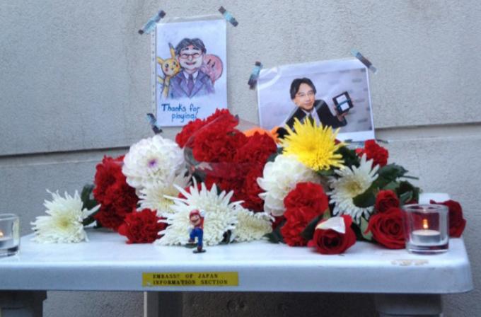 Rus hayranları Satoru Iwata'yı Japon konsolosluğunda andı