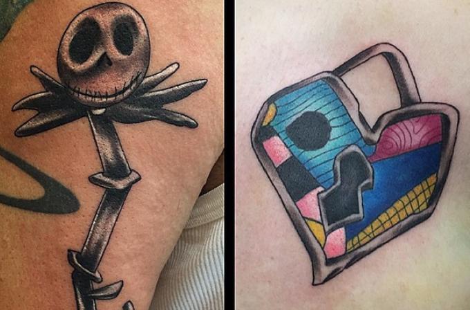 Geek çiftlerin birbirini tamamlayan dövmeleri