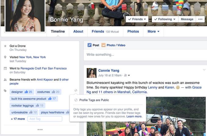 Facebook'a profil tagleri geliyor