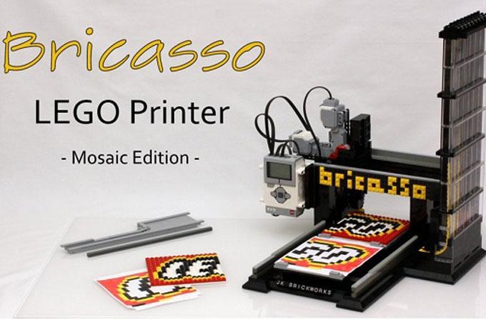 Dünyanın ilk LEGO yazıcısı: Bricasso