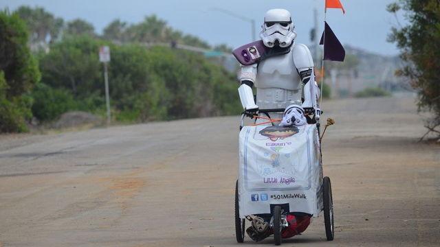 Stormtrooper, rahmetli eşi için 1046 km yürüdü