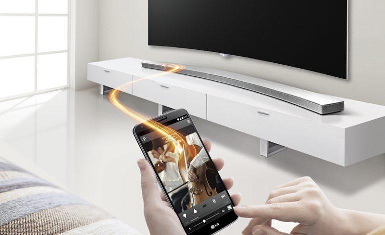 LG Curved Sound Bar HS8'in sesi de görüntüsü kadar güzel