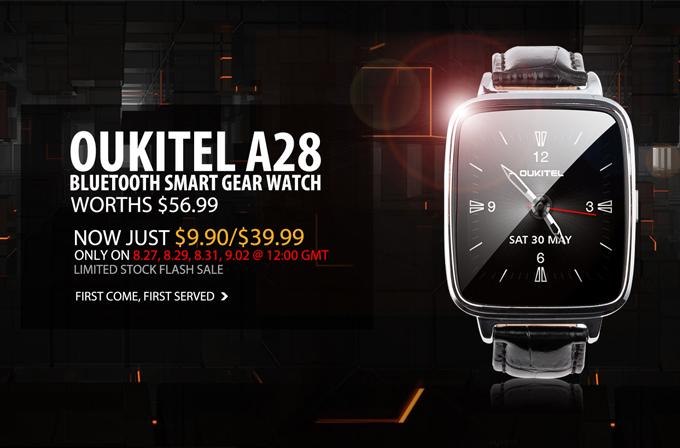 Gearbest.com'dan 60 dolarlık OUKITEL A28 saat sadece 10 dolara!
