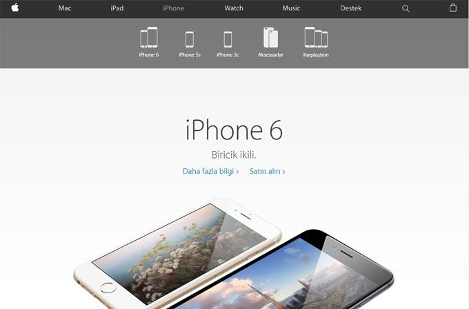 Apple.com'un tasarımı değişti