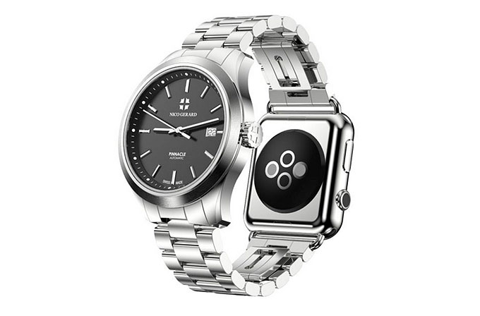 Apple Watch takılabilen mekanik saat