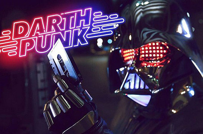 "Daft Punk ile Star Wars birleşti: ""Darth Punk – The Funk Awakens"""