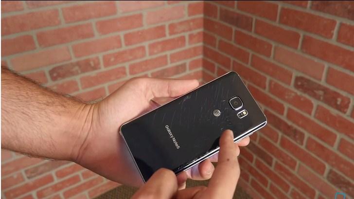 Galaxy Note 5'in ilk düşürme testi