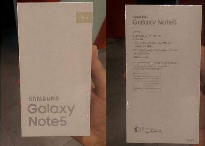 İşte Galaxy Note 5'in kutusu ve teknik özellikleri
