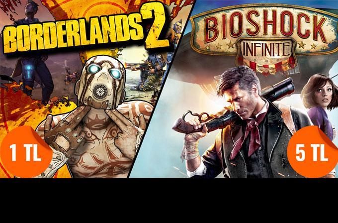 Borderlands 2 sadece 1TL, BioShock Infinite ise 5TL!