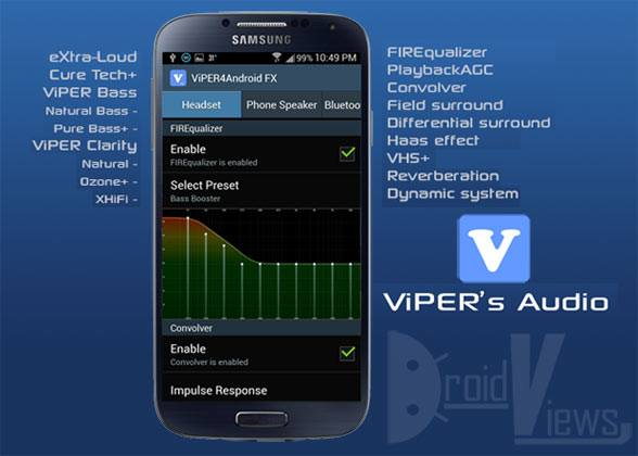 Android için ses arttırma programı: Viper4Android_FX